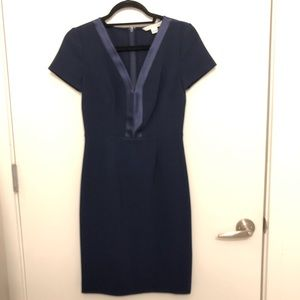 Diane Von Furstenberg Navy Work Dress